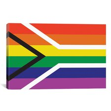 South African Lgbt Pride Rainbow Flag Graphic Art on Canvas
