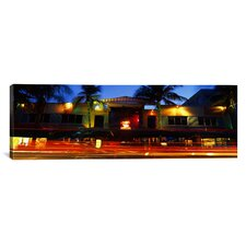 Panoramic Art Deco District, South Beach, Miami Beach, Florida Photographic Print on Canvas