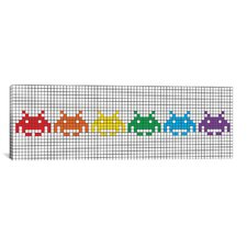 Space Invaders Pride 3.0 Graphic Art on Canvas