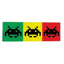 Space Invaders Rasta Trio Graphic Art on Canvas