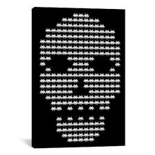 Space Invaders Skull Invaders Graphic Art on Canvas