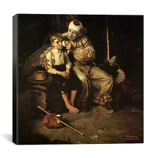 'The Runaway (Runaway Boy and Clown)' by Norman Rockwell Painting Print on Canvas