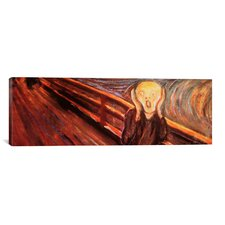 'The Scream' Panoramic by Edvard Munch Painting Print on Canvas