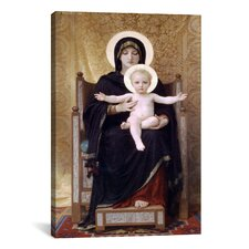 'The Seated Madonna (Madone Assise)' by William-Adolphe Bouguereau Painting Print on Canvas