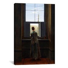 'Woman at The Window' by Caspar David Friedrich Painting Print on Canvas