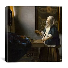 """Woman Holding a Balance"" by Johannes Vermeer Painting Print on Canvas"