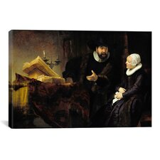 'The Mennonite Preacher Anslo and His Wife' by Rembrandt Painting Print on Canvas