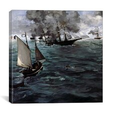 """The Battle of The USS Kearsarge and CSS Alabama"" Canvas Wall Art by Edouard Manet"