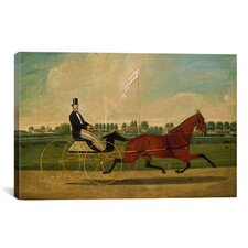 'Trotting Horse' by Charles Humphreys Painting Print on Canvas