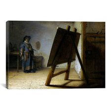 'The Artist in His Studio' by Rembrandt Painting Print on Canvas