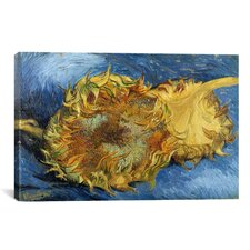 'Sunflowers 1887' by Vincent Van Gogh Painting Print on Canvas