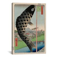 'Suido Bridge and Surugadai' by Utagawa Hiroshige l Graphic Art on Canvas