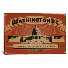 'Washington, D.C' by Anderson Design Group Vintage Advertisment on Canvas