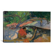 'Te Poipoi (Le Matin) 1892' by Paul Gauguin Painting Print on Canvas
