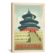 'Temple of Heaven - Beijing, China' by Anderson Design Group Vintage Advertisment on Canvas
