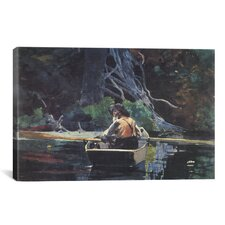 'The Adirondack Guide 1894' by Winslow Homer Painting Print on Canvas