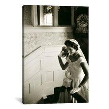 Wedding Dress of Jacqueline Bouvier (Kennedy) Canvas Wall Art