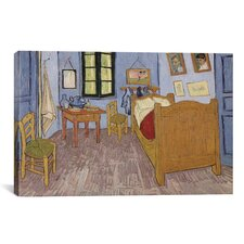 'The Bedroom at Arles 1889' by Vincent Van Gogh Painting Print on Canvas
