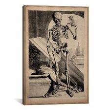 'Skeletal Anatomy' by Govard Bidloo Painting Print on Canvas