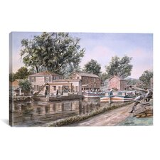 """Weigh Locks on Penn Canal"" Canvas Wall Art by Stanton Manolakas"