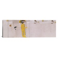 'The Beethoven Frieze (The Hostile Forces)' by Gustav Klimt Painting Print on Canvas