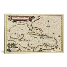 West Indies, Central America, 1635 Canvas Wall Art