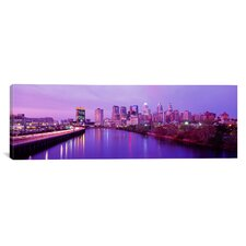 Panoramic Twilight Philadelphia, Pennsylvania Photographic Print on Canvas