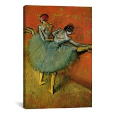 'Tanzerinnen an der Stange 1888' by Edgar Degas Painting Print on Canvas