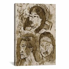 'Trois Tetes Tahitiennes' by Paul Gauguin Painting Print on Canvas