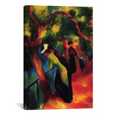 'Sunny Way' by August Macke Painting Print on Canvas