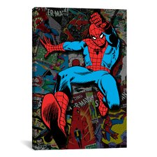 Marvel Comics Spider Man Cover Collage Graphic Art on Canvas