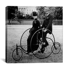 Tandem Biclycle (Two Seats) Canvas Wall Art