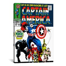 Marvel Comics Captain America Issue Cover #100 Graphic Art on Canvas