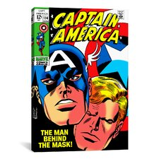 Marvel Comics Book Captain America Issue Cover Graphic Art on Canvas