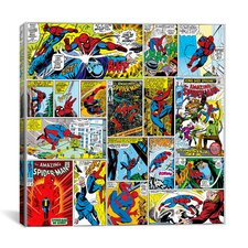 Marvel Comics Book Spider-Man Covers and Panels Graphic Art on Canvas