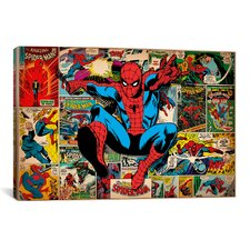 Marvel Comics Book Spider-Man on Spider-Man Covers and Panels Graphic Art on Canvas