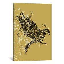 'Tattooed Bird' by Budi Satria Kwan Graphic Art on Canvas
