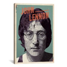 American Flat Lennon Graphic Art on Canvas