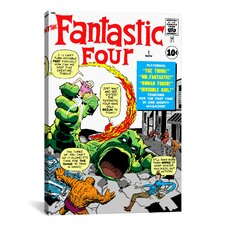Marvel Comics Fantastic 4 Cover Issue Cover Graphic Art on Canvas
