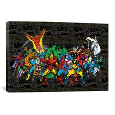 Marvel Comics Character Lineup Comic Logo Graphic Art on Canvas