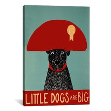 Little Dogs Are Big Canvas Print Wall Art