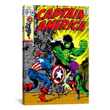 Marvel Comics Book Captain America Issue Cover #110 Graphic Art on Canvas