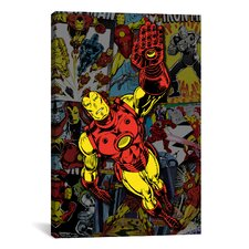 Marvel Comics Iron Man Cover Collage Graphic Art on Canvas