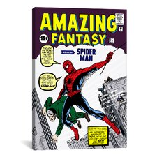 Marvel Comics Book Spider-Man Amazing Fantasy Issue Cover #15 Graphic Art on Canvas