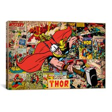 Marvel Comics Book Thor on Thor on Covers and Panels Graphic Art on Canvas