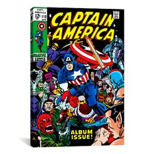 Marvel Comics Book Captain America Issue Cover #112 Graphic Art on Canvas