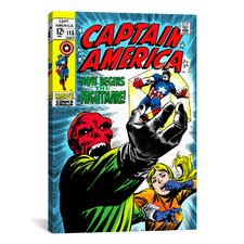 Marvel Comic Book Captain America Issue Cover #115 Graphic Art on Canvas