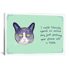 Troublemaker Cat Print Art on Canvas