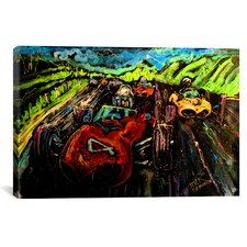 Vintage Racing Canvas Print Wall Art
