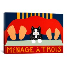 Menage A Trois Black Cat Canvas Wall Art by Stephen Huneck